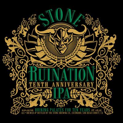Stone - Ruination Tenth Anniversary IPA