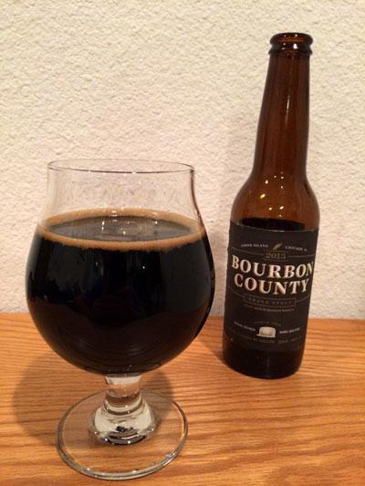 Goose Island Bourbon County Brand Stout pour