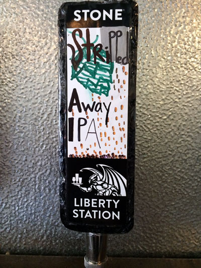 Stone Brewing Stripped Away IPA Tap Handle