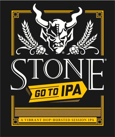 Stone Go To IPA label