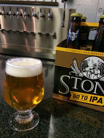 Stone Go To IPA pour