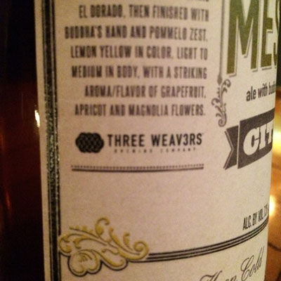 Noble Ale Works Three Weavers The Messenger