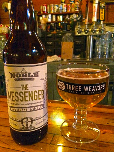 Noble Ale Works Three Weavers The Messenger pour