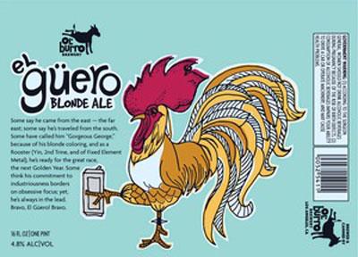 Ol' Burro El Guero Blonde Ale Label