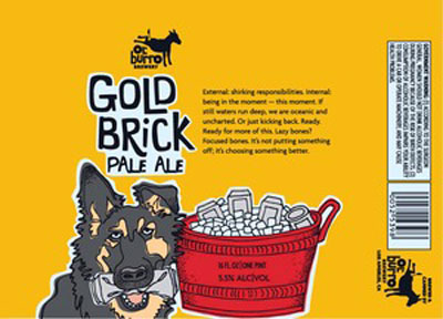 Ol' Burro Gold Brick Pale Ale Label