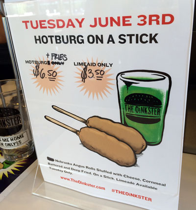 Oinkster Burger Week IV Beer Pairing - Day 2 HotBurg on a Stick