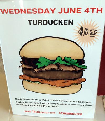 Oinkster Burger Week IV Beer Pairing - Day 3 Turducken
