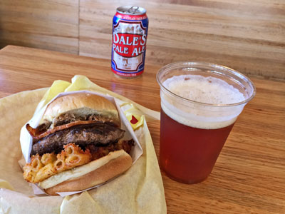Pantera Burger paired with Oskar Blues Dales's Pale Ale