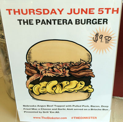 Oinkster Burger Week IV Beer Pairing - Day 4 The Pantera Burger
