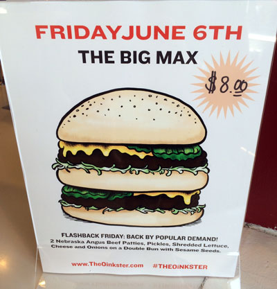Oinkster Burger Week IV Beer Pairing - Day 5 The Big Max