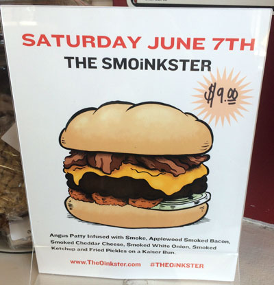 Oinkster Burger Week IV Beer Pairing - Day 6 The Smoinkster