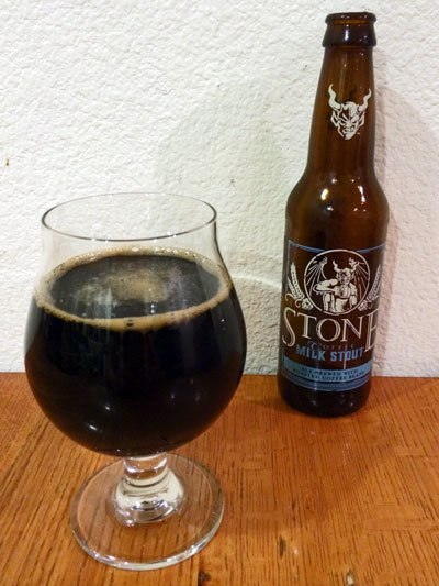Stone Coffee Milk Stout pour