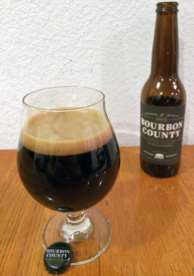 Goose Island Bourbon County Brand Stout 2014 pour